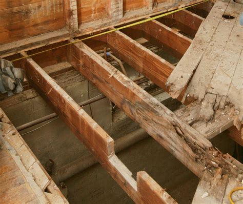 10 x 10 floor joist how to repair a butchered floor joist