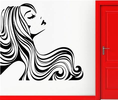 Wallpaper Sticker Line Black White high quality salon beautiful hair morden wall sticker vinyl wallpaper for home