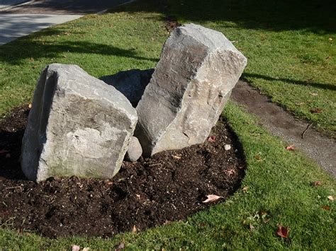 Faux Rocks For Garden Landscaping Faux Garden Boulder Rock Outdoor Yard