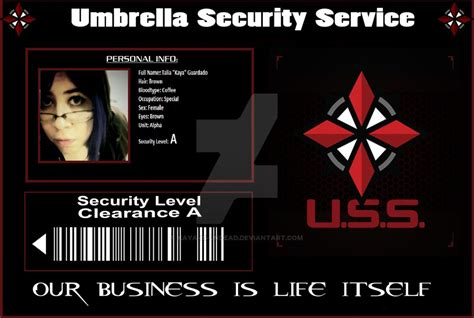 umbrella corporation id card template umbrella corp id by kaya is undead on deviantart