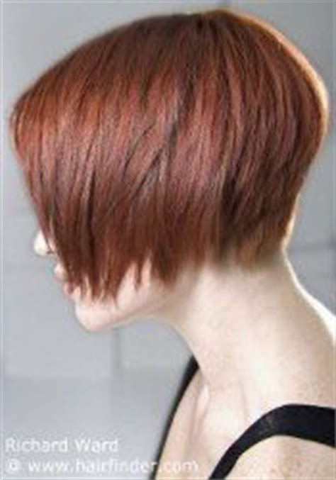 choppy nape length bob jaw length bob cut with a graduated nape short