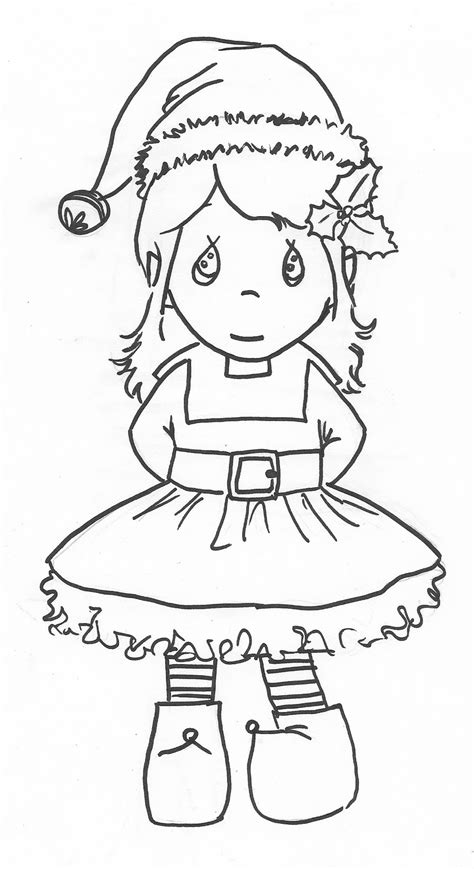 printable elf girl 1000 images about printables christmas colouring pages