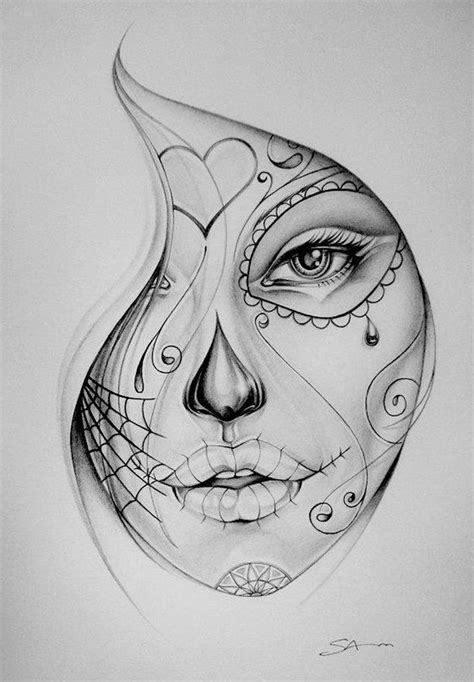 pretty face tattoo designs 17 best images about sugar skull muerte on