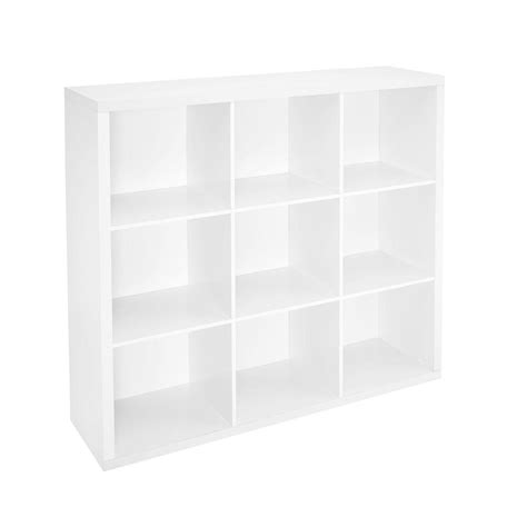 Closetmaid 9 Cube Organizer White closetmaid 44 in w x 44 in h decorative white 9 cube organizer 1110 the home depot