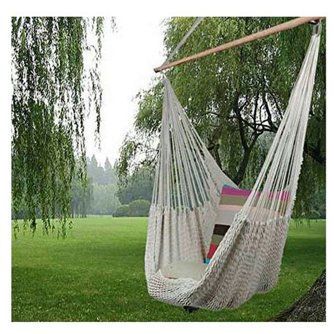 New Hammock 2016 New Hanging Cotton Deluxe Rope Hammock Chair Patio