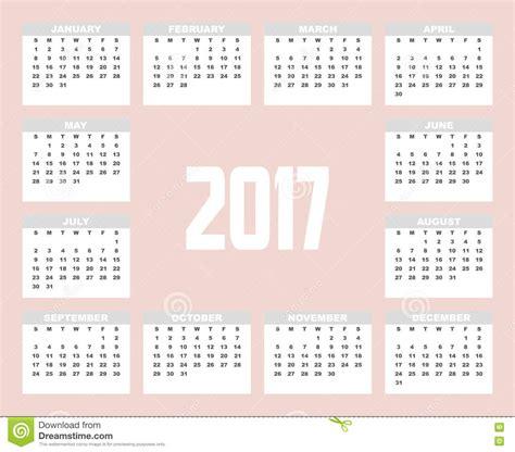 design calendar illustrator 2017 planner design stock illustration image 79275896