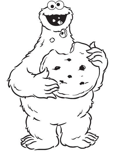 coloring pages elmo cookie monster 8 best images about cookie monster on pinterest
