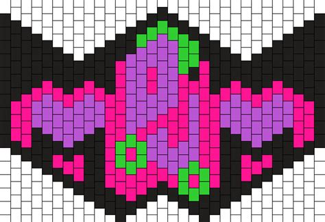 kandi mask pattern with numbers kandi patterns for kandi cuffs misc pony bead patterns