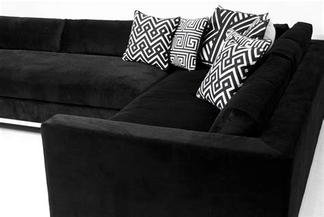 black velvet sectional monte carlo sectional in black velvet modshop