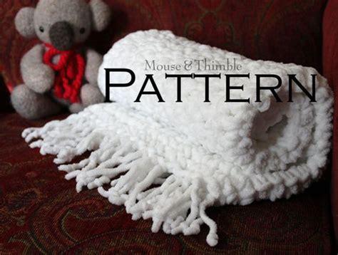 Chenille Baby Blanket Pattern by Easy Crochet Pattern Soft Chenille Baby