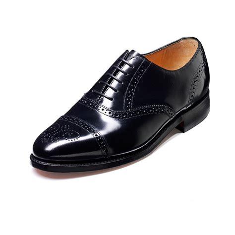 alfred black hi shine leather lace up brogue shoe