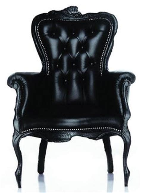black armchair moooi smoke chair finished with fire by maarten baas