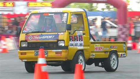 mobil pick  drift jogja intersport lead  speed gymkhana slalom car racing indonesia