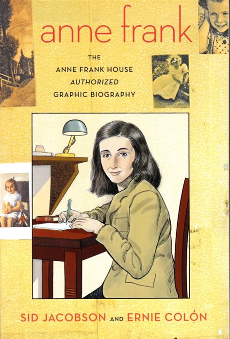 biography by anne frank book review anne frank authorized graphic nose in a book
