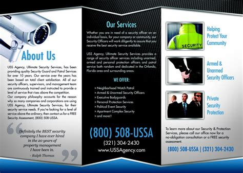 Security Guard Company Flyers uss agency security services 100 w lucerne cir south