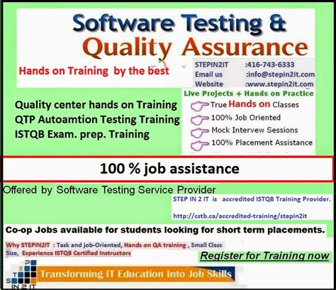on the job training tools sqa canada software quality assurance sqa services by