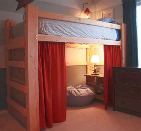how to make loft bed curtains 19 cool adult loft bed with stairs designs