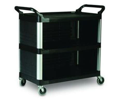 råskog utility cart fg409300bla rubbermaid 3 shelf utility cart with 3 sides