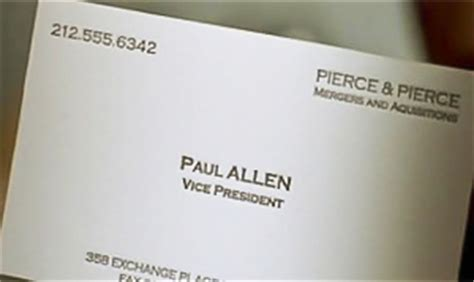 paul allen business card template business card american psycho font best business cards