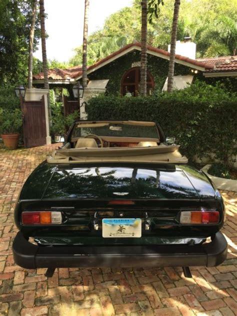 green aston martin convertible 1988 aston martin v8 volante convertible 26 205 original