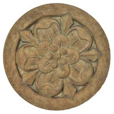 decorative stepping stones home depot mpg 18 in round cast stone large floral stepping stone