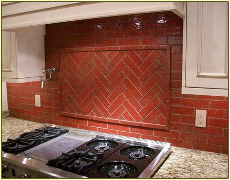 brick tile backsplash home design