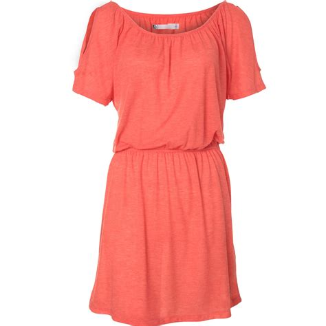 farbe coral volcom damen kleid quot simply stoned quot b5711452 farbe coral