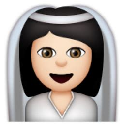 braut emoji white bride with veil emoji u 1f470 u 1f3fb