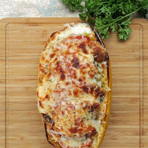 chicken parm stuffed spaghetti squash recipe