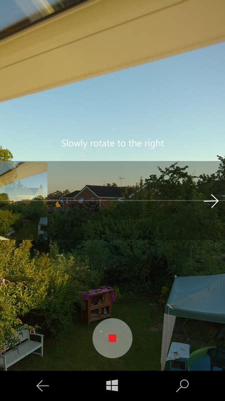 panorama mode windows 10 gains panorama mode