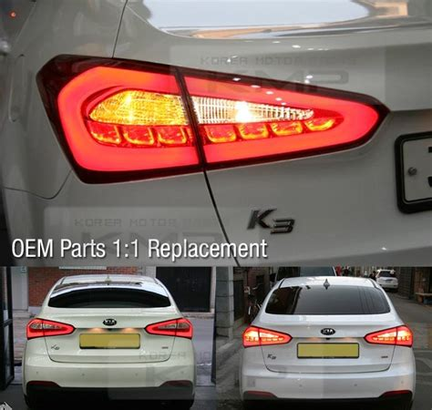 2017 kia forte tail lights oem parts surface emission trunk led tail l 4pcs for