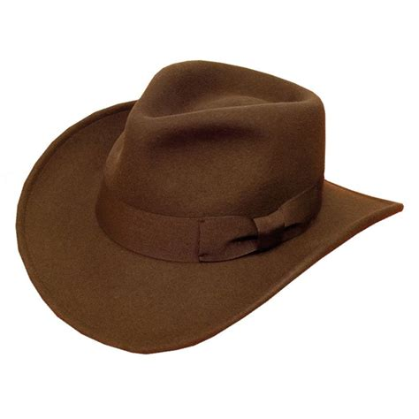 style hats e13bn brown felt cowboy style hat ribbon band ssp hats