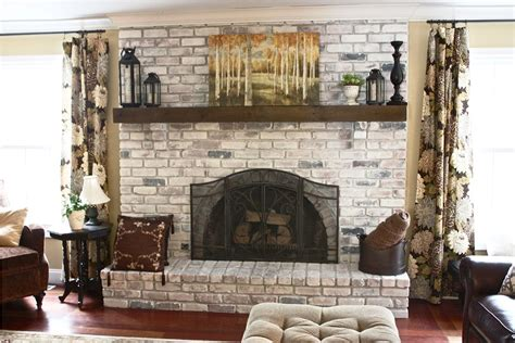 Brick Fireplace Paint Makeover Ideas by Painted Brick Fireplace Makeover All Home Ideas And