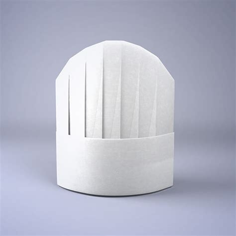 Origami Chef Hat - obj chef hat