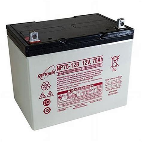 genesis battery osi batteries enersys genesis np75 12 sealed lead