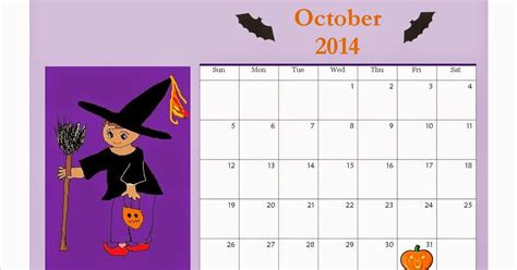 printable october  calendar  kids halloween design parenting times