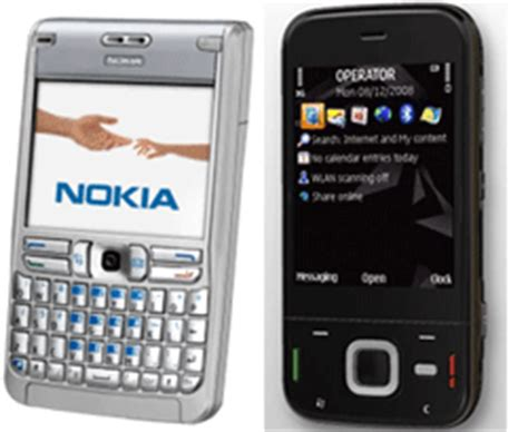 Noka Fruit Series difference between nokia n series and e series