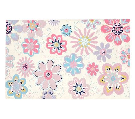 flower rugs dottie floral rug pottery barn