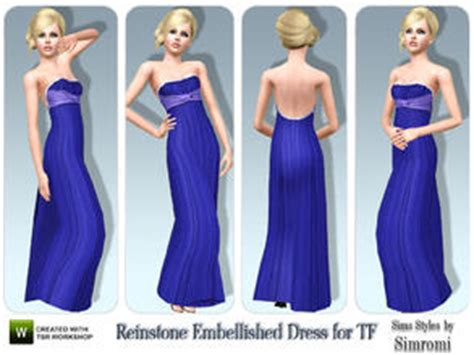 Longdress Margarita Cc subscriber only sims 3 clothing prom dress