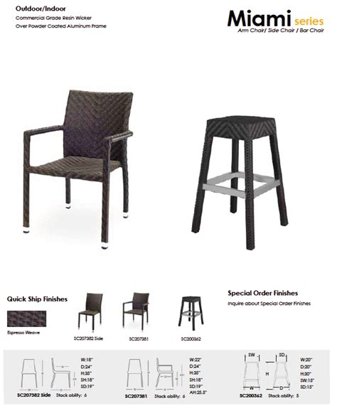 Bar Stools Miami Area by Outdoor Bar Stools 2 Restaurant Furniture Florida Ta Area