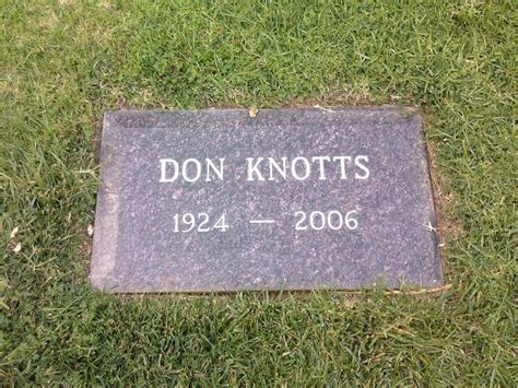 don knotts funeral images