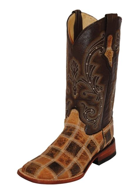 Ferrini Patchwork Boots - ferrini western boots womens patchwork square toe