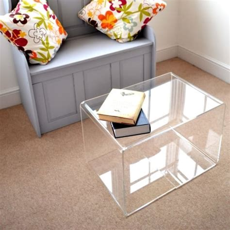 acrylic cube coffee table perspex coffee table acrylic perspex home acessories