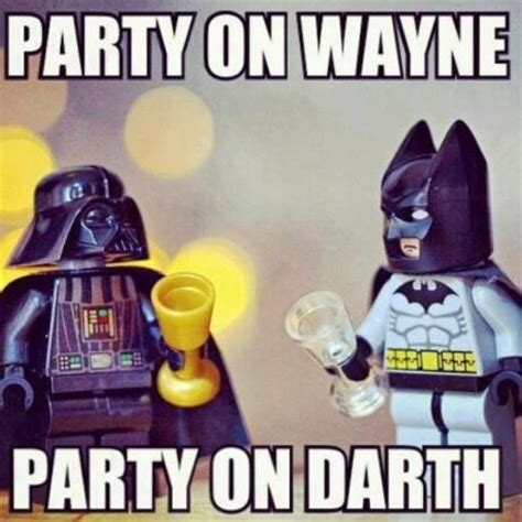 Shwing Meme - party on wayne party on darth batman starwars