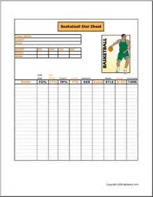 Free printable basketball stat sheet to keep track of players points