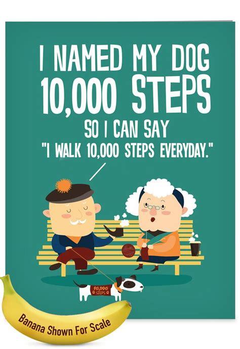steps funny birthday big card