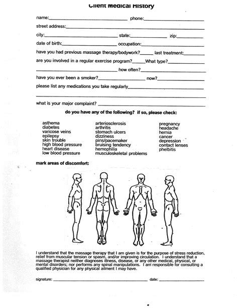 therapy intake form template large movement therapy schedule