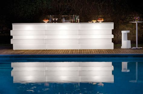 Illuminated Bars by Artificial Marble Illuminated Led Tetris Modular Bar