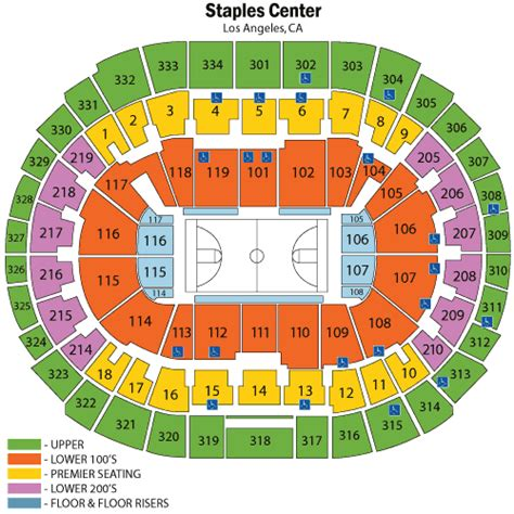staples center map staples center lakers seating chart the ultimate staples center seating chart razorgator