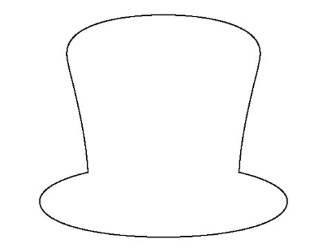 hat outline template magic hat pattern use the printable outline for crafts